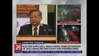 Elected officials, wala nang term extension sa 2022 sakaling matuloy ang pederalismo