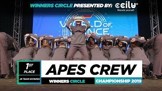APES CREW | 1st Place Jr Team | Winners Circle | World of Dance Championship 2019 | #WODCHAMPS19