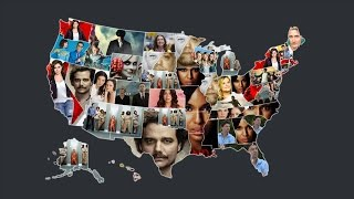 Animated map shows the most popular show on N...