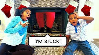 Bad Baby Santa Claus STUCK In Chimney! - Shasha, Shiloh Fire BOMB - Onyx Kids
