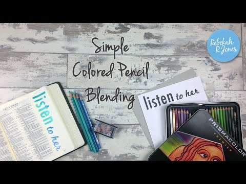 Simple Colored Pencil Blending - Bible Art Journaling Challenge Lesson 28