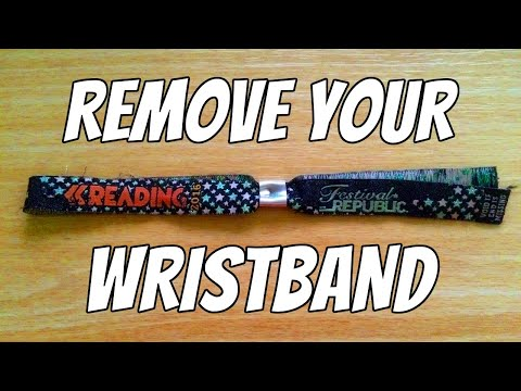 How To Easily Remove A Festival Wristband