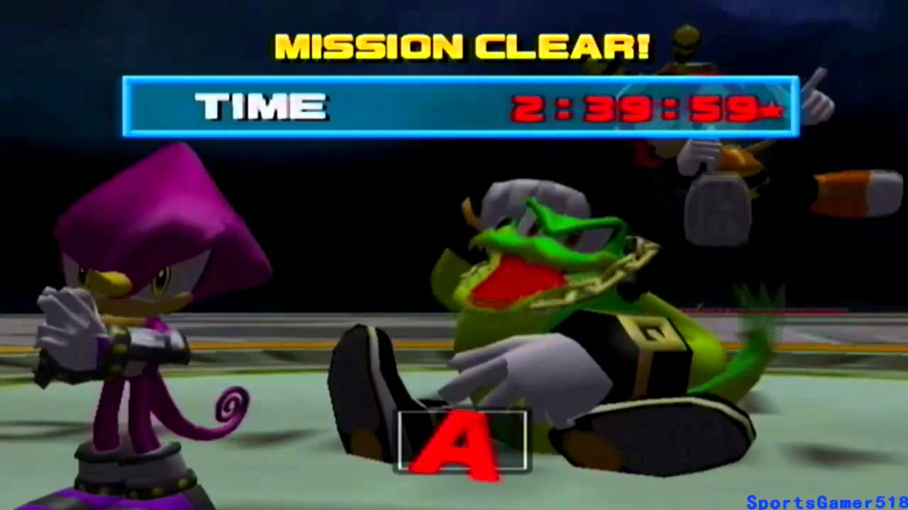sonic heroes team chaotix ending relationship