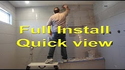 Monster Steam Shower build, Quick view. See it all.