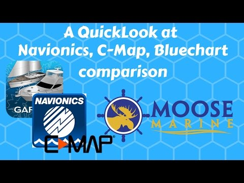 Navionics, C-map,  Garmin Marine Map Comparison