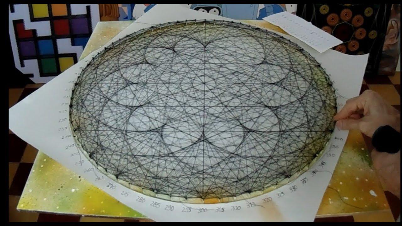 String Art Lotus Flower By Jorge De La Tierra Youtube