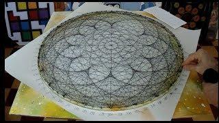 string art lotus flower by jorge de la tierra