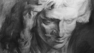 Charcoal Drawing Techniques   Plaster Cast - Molière