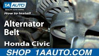 How to Replace Alternator Belt 01-05 Honda Civic