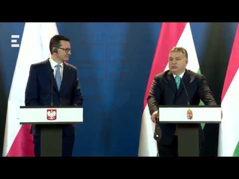 Orbán Viktor és Mateusz Morawiecki sajtótájékoztatója