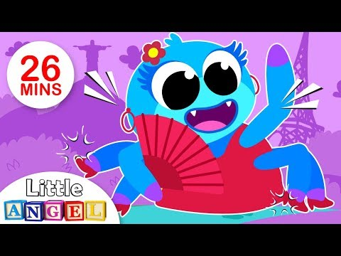 Itsy BItsy Spider Learns New Languages, Travel with Humpty Dumpty & more Kids Songs by Little Angel