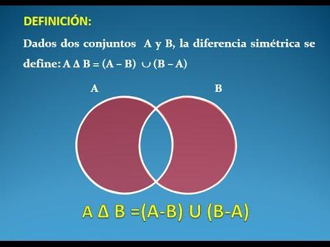 Diferencia simetrica de conjuntos en el diagrama de venn youtube diferencia simetrica de conjuntos en el diagrama de venn ccuart Image collections