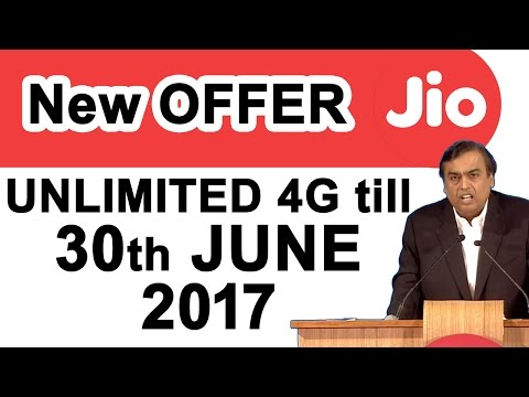 Thumbnail: Reliance JIO will provide Free 4G Data till 30th June 2017 #DigitalIndia