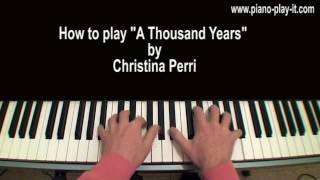 A Thousand Years Christina Perri Piano Tutorial