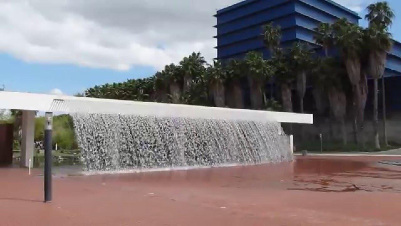 waterfall fountain at parque das naes lisbon - Waterfall Fountain