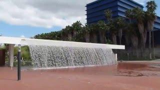 Waterfall Fountain at Parque das Nações, Lisbon