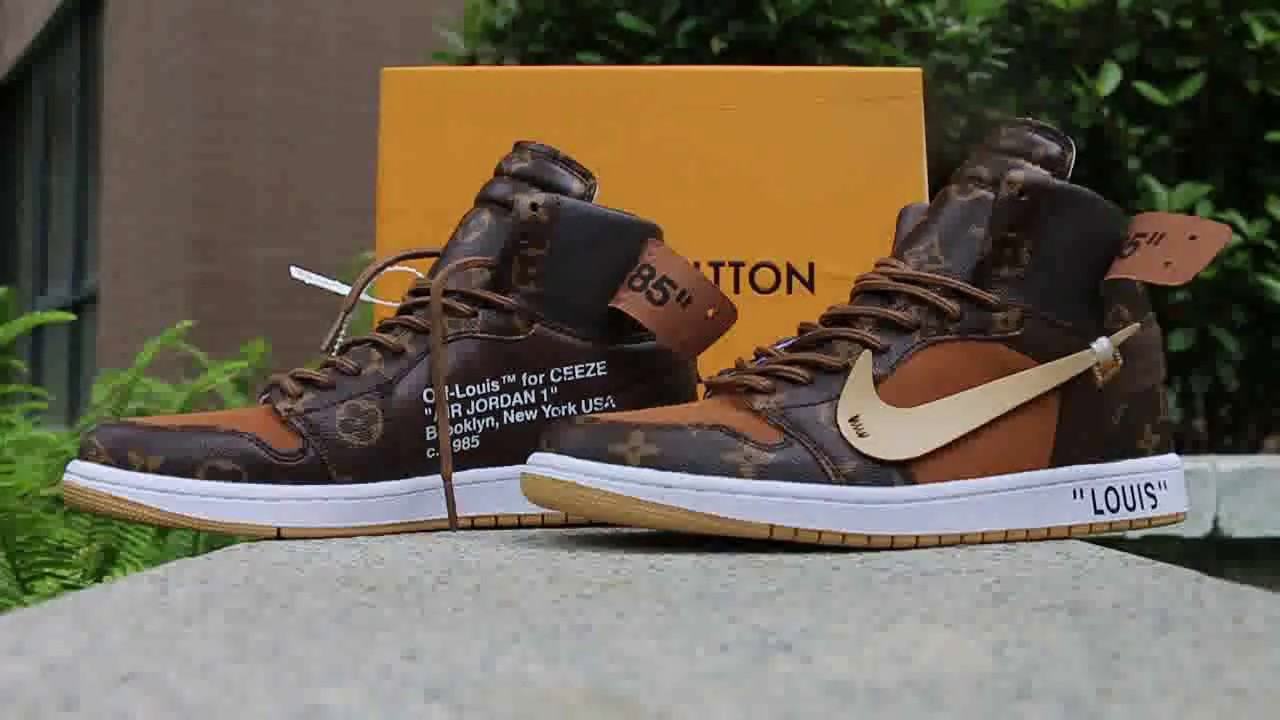 4e799118d39a Louis Vuitton OFF-WHITE x Air Jordan 1 HD Review - YouTube