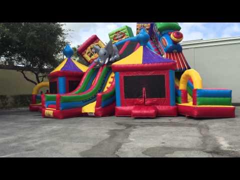 Mega circus city extra large bounce house.