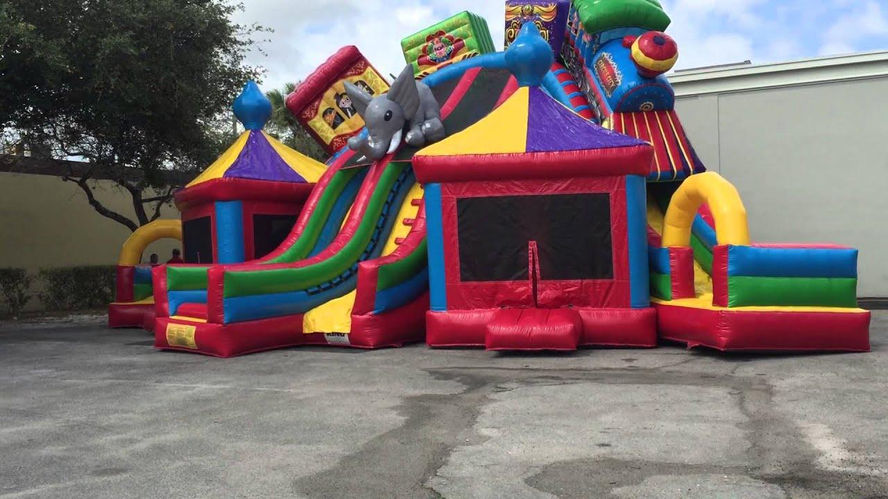 Mega circus city extra large bounce house. - YouTube