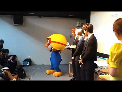 130508 CNBLUE at Appointment ceremony for KFHI - playing around with Pororo