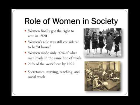 A discussion of womens role in the past