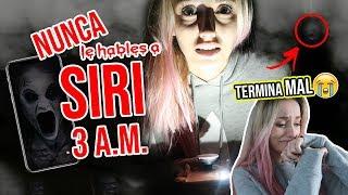 NUNCA le HABLES a SIRI a las 3:00 A.M. 😱 *RETO PARANORMAL* ¡TERMINA MAL! | Katie Angel