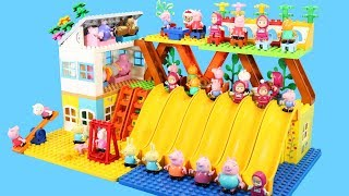 Peppa Pig Building Blocks House Lego Toys For Kids - Lego Duplo House Creations Toys #2