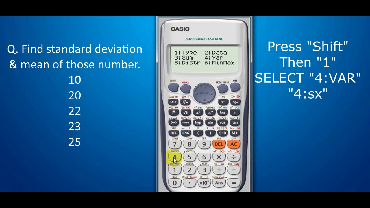 Find Mean And Standard Deviation By Es Calculator (ungroup Data) œ�