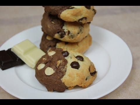 Chocolate Chip Cookies mit doppelt Schokolade / Double Chocolate Chip Cookies