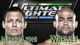 TUF BRASIL 3 FINAL - Warlley Alves vs Marcio Lyoto - Warlley atropela Lyoto