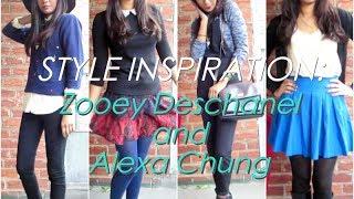 Style Inspiration: Zooey Deschanel & Alexa Chung Thumbnail