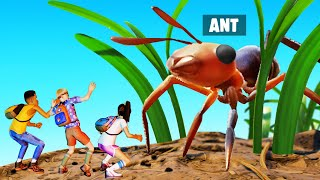 TINY YOUTUBERS vs KILLER ANTS! (Grounded)
