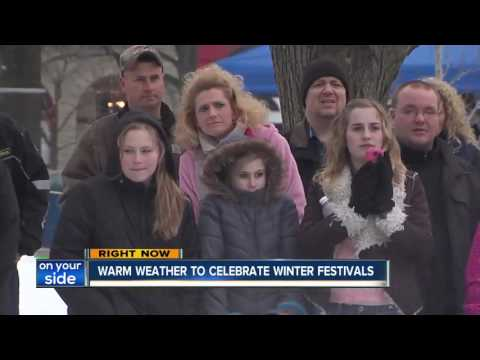 Warm weather expected for winter ice festivals
