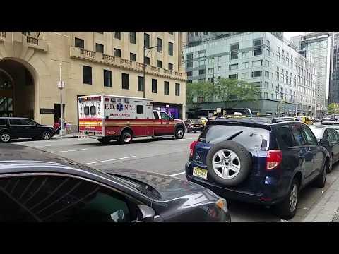FDNY EMS Responding On 8th Ave In Midtown, Manhattan, New York