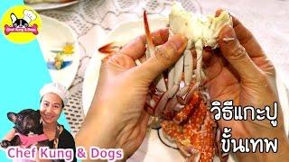 วิธีแกะปู ขั้นเทพ |CHEF KUNG & DOGS ✔︎
