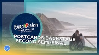 Backstage at the postcard recordings - Second Semi-Final - Eurovision 2018