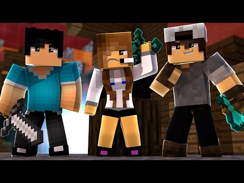 Minecraft: EGG WARS - ENFRENTANDO TIME HACKER! c/ SrPedro e Bibi