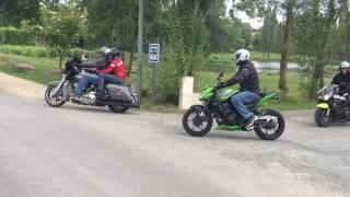 Ballade moto Harley Evron 53