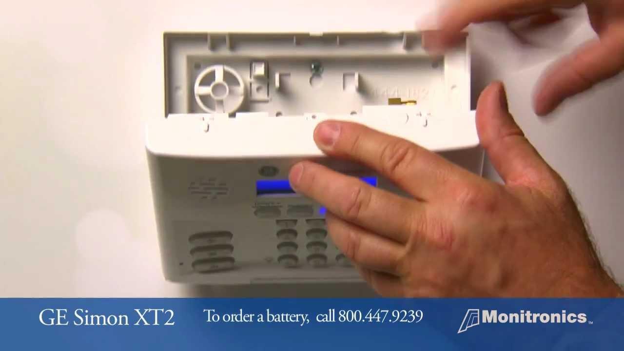 How To Change Your Simon Xt 2 Battery Youtube Burglar Alarm Powered By