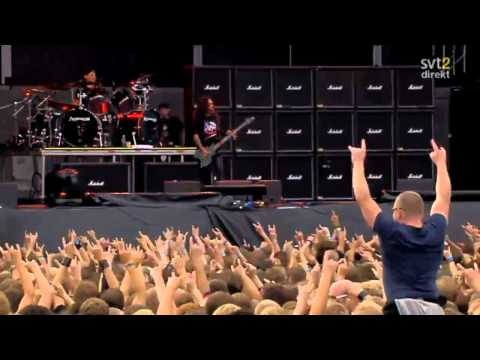 The Big 4 - Slayer - Angel Of Death Live Sweden July 3 2011 HD
