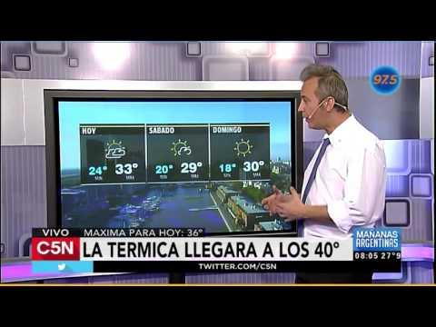 C5N - El Tiempo: Pronóstico en Buenos Aires 12/02/2016