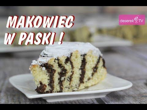Makowiec w paski przepis od Deserek.TV