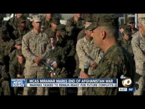 U.S. Marines mark end to Afghanistan War