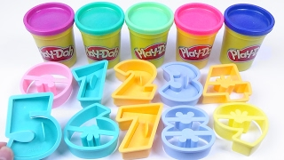 Learn Colors and Numbers for Kids Learn to count with Play doh Disney Mickey Mouse Number Cutter 0-9