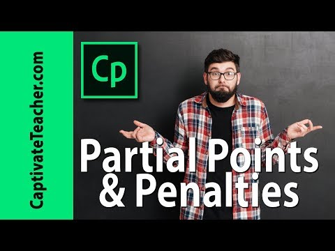 Partial Points and Penalties in Your Adobe Captivate Questions