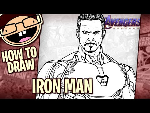 How to Draw IRON MAN (Avengers: Endgame) | Narrated Easy Step-by-Step Tutorial thumbnail