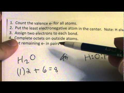 H2O Lewis Structure: Lewis Dot Structure for H2O - YouTube