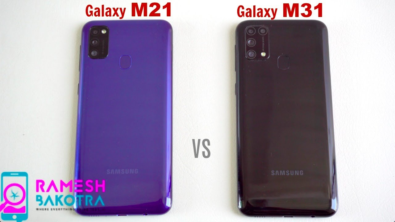 Samsung Galaxy M21 vs Galaxy M31 SpeedTest and Camera Comparison