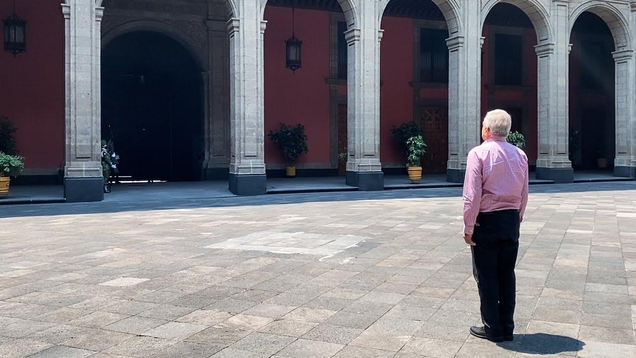 Llegada a Palacio Nacional