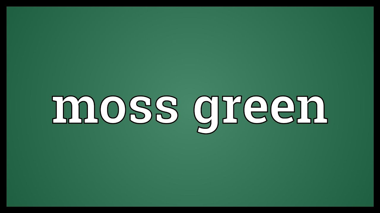 Moss green meaning youtube moss green meaning biocorpaavc Image collections